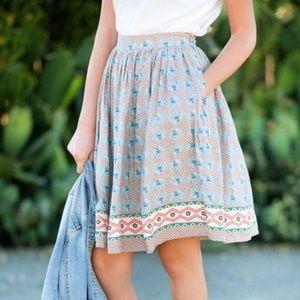 Comme Toi Elephant Print Skirt